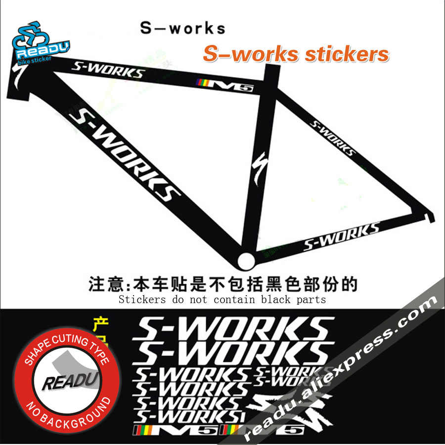 S works bicycle rack stickers road bike mountain bike frame reflective stickers