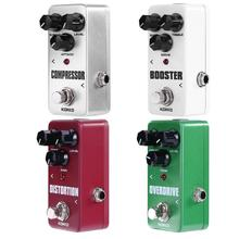 KOKKO Guitar Pedal Effect Compressor Booster Distortion Overdrive Electric Bass Guitar Effects True Bypass Musical Instruments