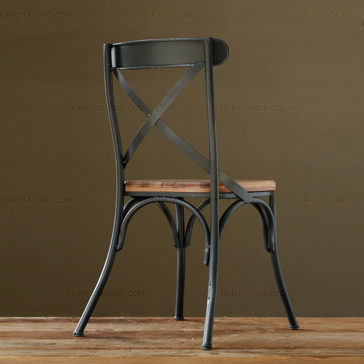 Aliexpress  Buy Paris Loft American country style wood furniture , wrought  iron chairs Barstools Dining from Reliable furniture fan suppliers on Store  ...