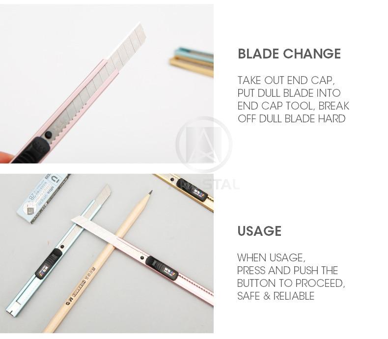 aço inoxidável andstal metal papelaria faca escritório