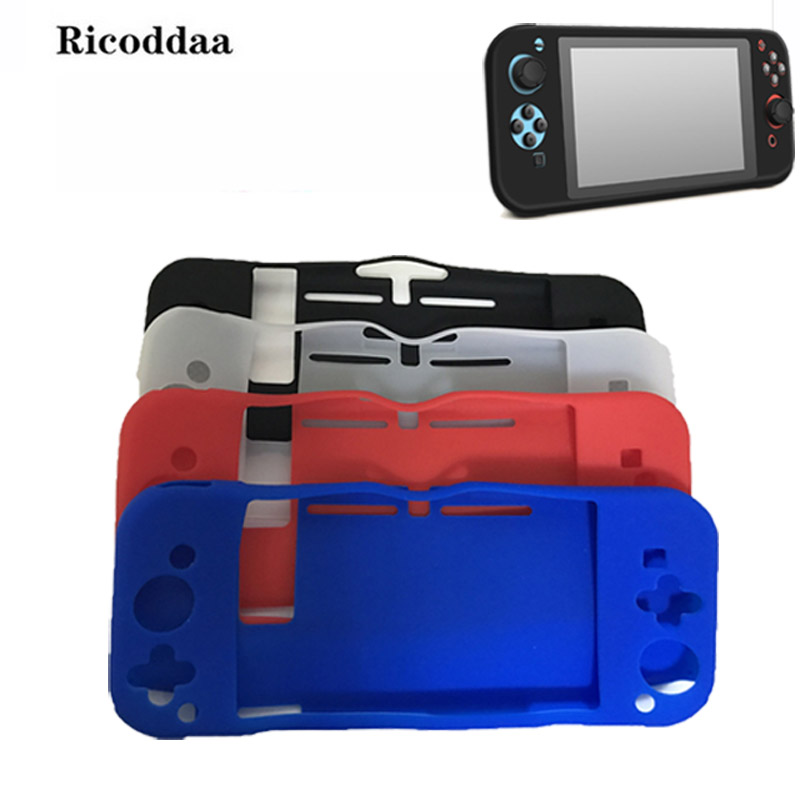 Ricoddaa For Nintend Switch Silicone Case Full Body Protect Cover Anti-Slip Skin For Nintendo Switch Joy-Con Console Controller