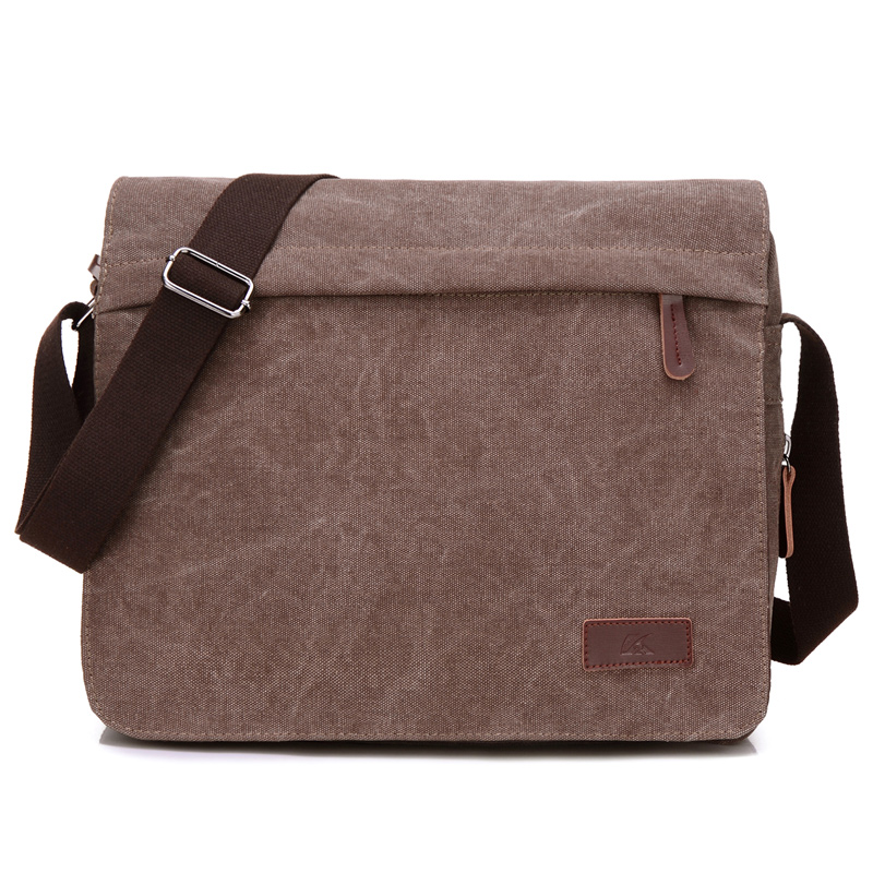 New Canvas Men Messenger Shoulder Bag Inghilterra Big Crossbody Borse Simple Casual Multi-Function Borse vintage di medie dimensioni