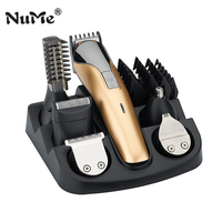 NuMe 6 In 1 Rechargeable Hair Clipper Professional Electric Hair Trimmer Beard Electric Razor Powerful Hair