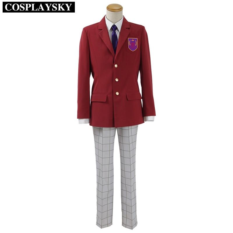 Sanrio Boys Kota Hasegawa Cosplay Costume Man Spring Suit Red Blazer Coat and White Shirt&Pants Full Set