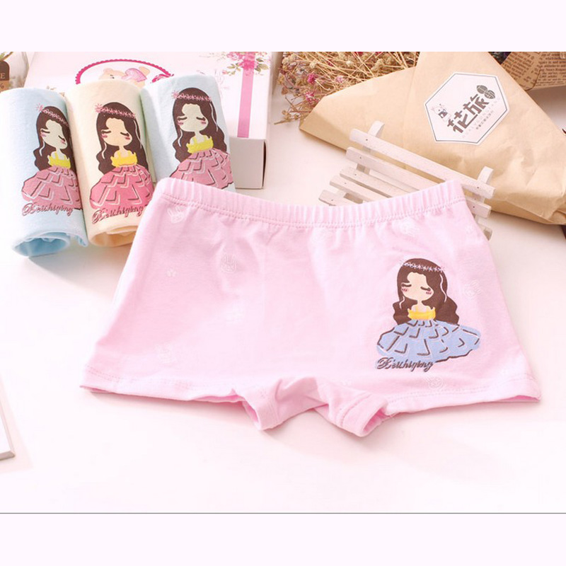 New arrived 2017 Girls Underwear Free Shipping Fashion Kids cotton character children panties short boxer 4pcs/lot 2-10year