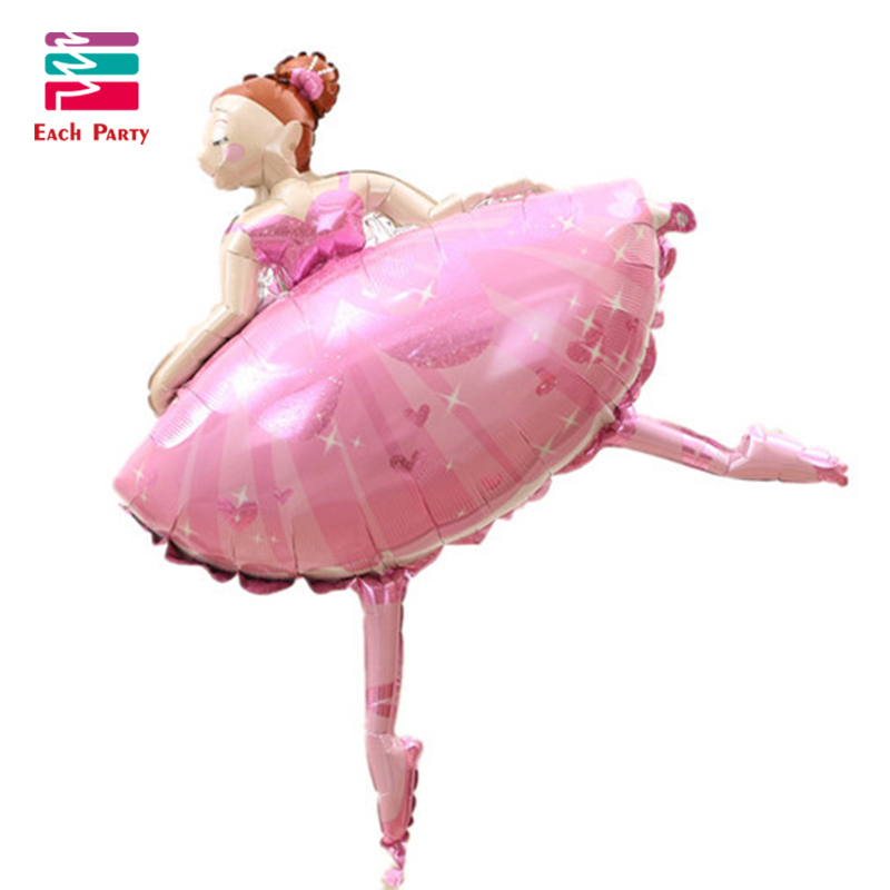 Large Size Party balloons Ballet Dancing Girl Foil Balloons Wedding Decoration Birthday Party Decorations Kids Baby Girl