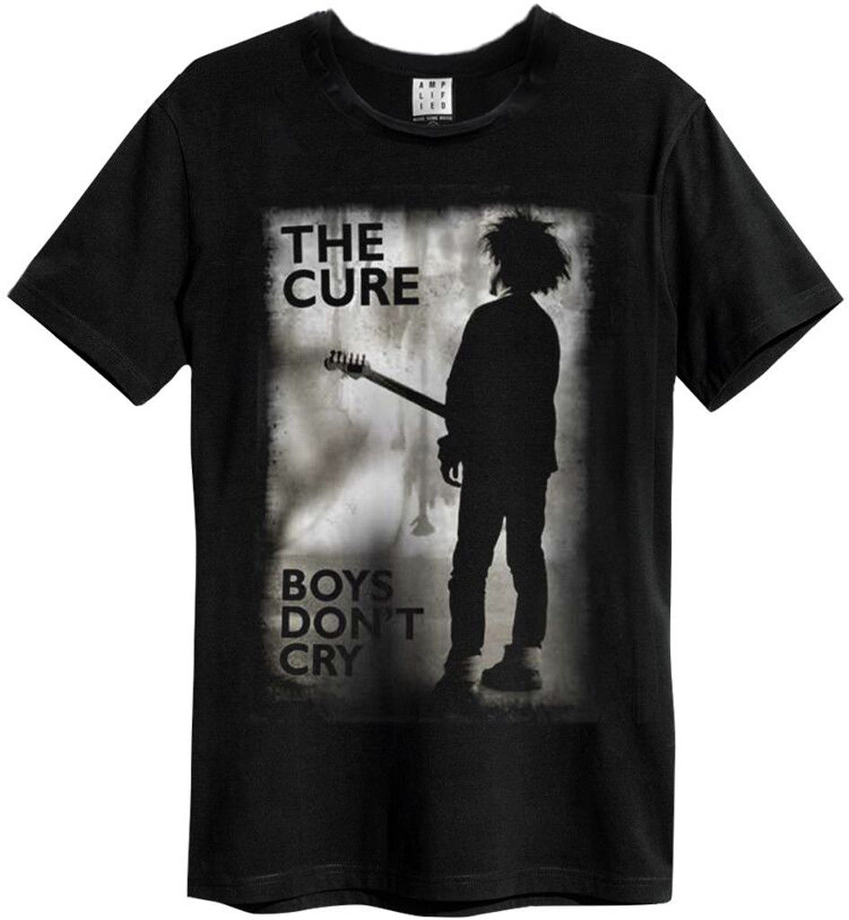 The Cure 'boys Don'  t   Cry' ( Black )   T     Shirt   Amplified Clothing New & Official Men's   T     Shirts   Short Sleeve O Neck Cotton Colors