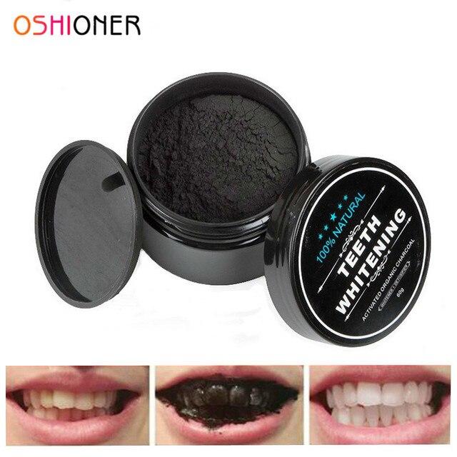 OSHIONER 30g Blanqueamiento Dental Cuidado Bucal polvo carbón Natural activado carbón dientes blanqueador polvo higiene bucal