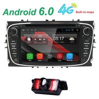 Black Silver Android HD Two Din 7Inch Car DVD For FORD FOCUS Android 5 1 Car