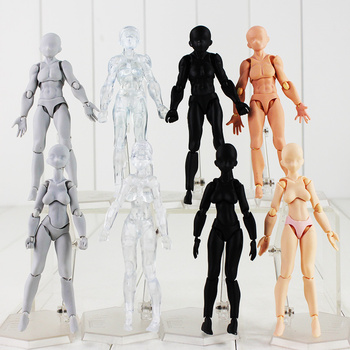 8 Styles 5'' Figma Body Action Figure Archetype He She Body Kun Body Chan Grey Black Skin Clear Male Female Model Dolls