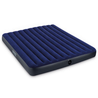 INTEX Flocking Double King Size Inflatable Mattress 2 Popularity Bed Tent Camping mat 68755 with a pump