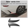 W205 карбоновое волокно заднее крыло автомобиля вентиляционное отверстие отделка E AMG still для Benz w205 c180 c200 c300 c63 amg 4 двери 2015-2018