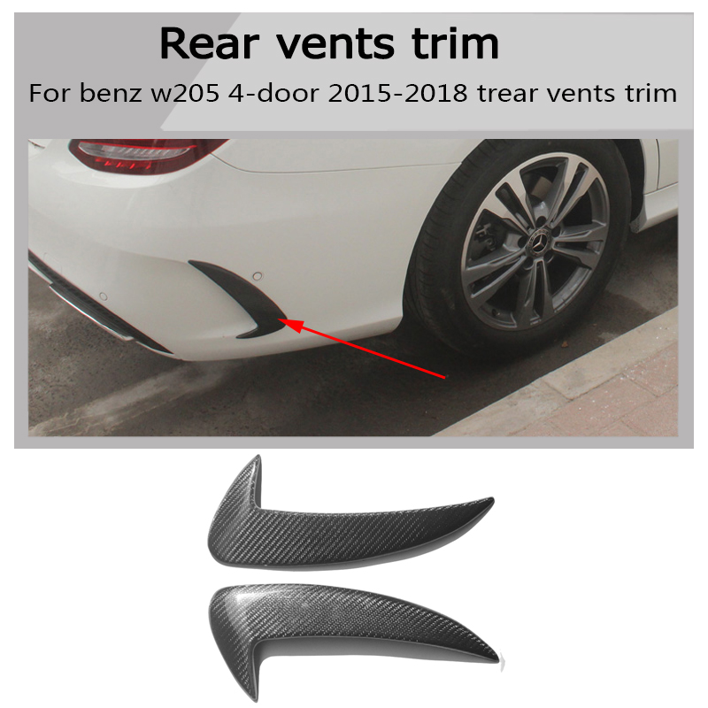 US $72 94 18% OFF|W205 Carbon Fiber Car rear Fender Vent Trim E AMG still  for Benz w205 c180 c200 c300 c63 amg 4 door 2015 2018-in Body Kits from