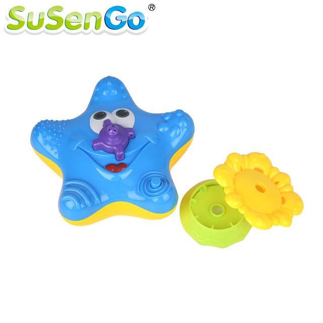 Juguete Del baño Del Bebé de Agua Eléctrico de Ducha Starfish Juguetes de Agua Pulverizada