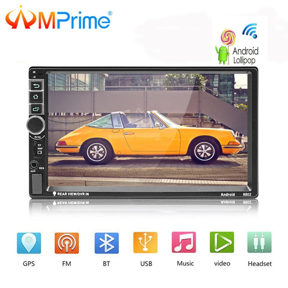 AMPrime Android Auto Radio 2 Din Autoradio GPS Navigation 2din Universal Auto Multimedia Player BT FM Mirrorlink Stereo Audio 8802