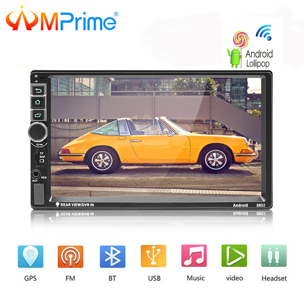 AMPrime Android Auto Radio 2 Din Autoradio GPS Navigation 2din Universal Auto Multimedia Player BT FM Mirrorlink Stereo Audio 8802