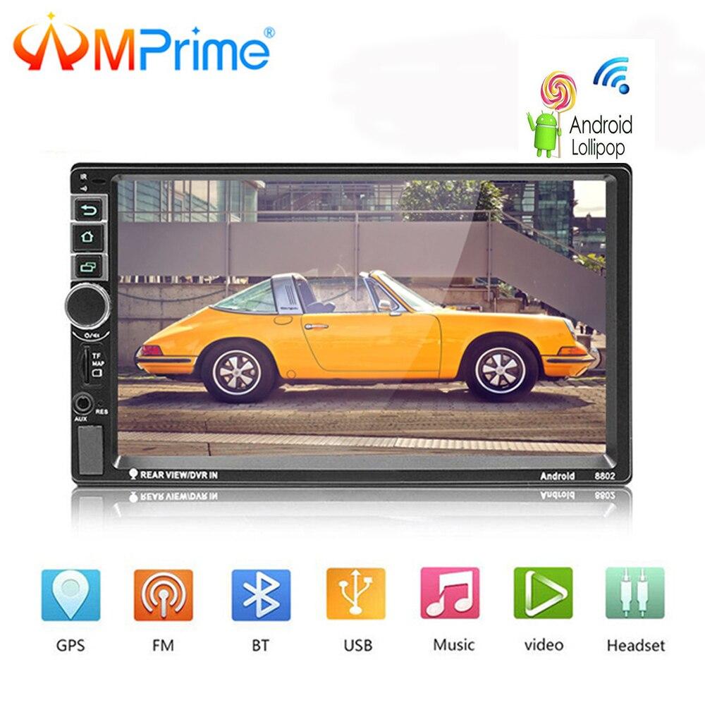 AMPrime Android Radio de coche 2 Din Autoradio GPS navegación 2din coche Universal reproductor Multimedia BT FM de enlace de Audio estéreo de 8802