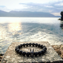 Natural Black Agate Nepal Transport Bead String Type Chain Bead Neutral Bracelet Fine Men Women Cool Batman Charms Jewelry