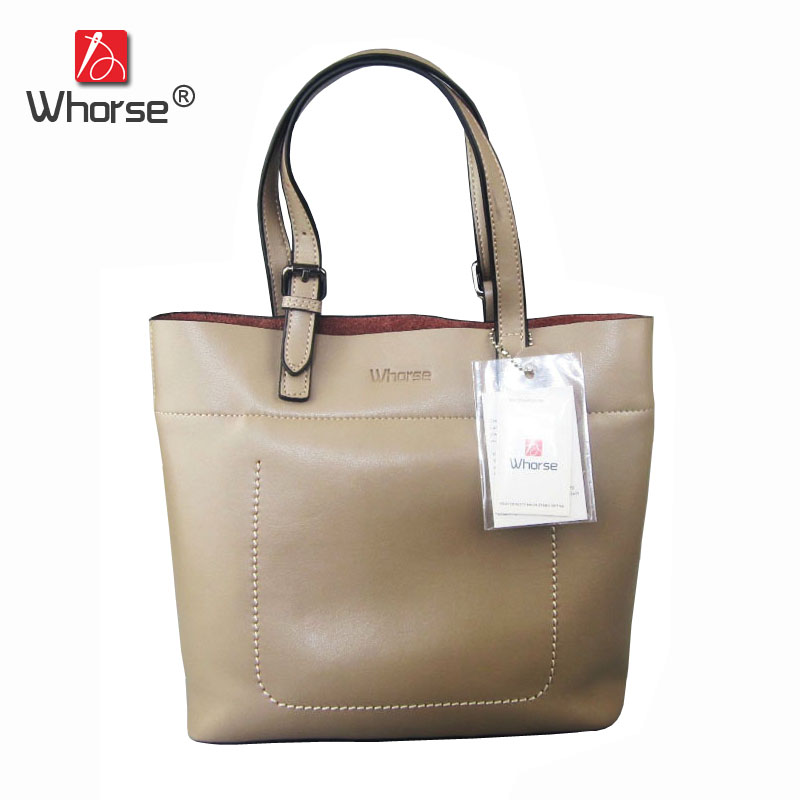 [WHORSE] Brand Luxury Genuine Leather Women Handbag Cowhide Large capacity Lady Ladies Shoulder Bag Messenger Bags Tote W07750 newest luxury brand women bag fashion design cowhide leather handbag lady totes sequined original shoulder bag