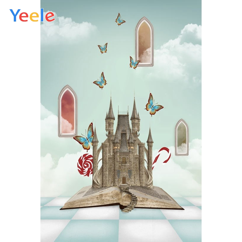 Yeele Aerial Castle Fairy Wonderland Self Portrait Baby Photography Backgrounds Custom Photographic Backdrops For Photo Studio