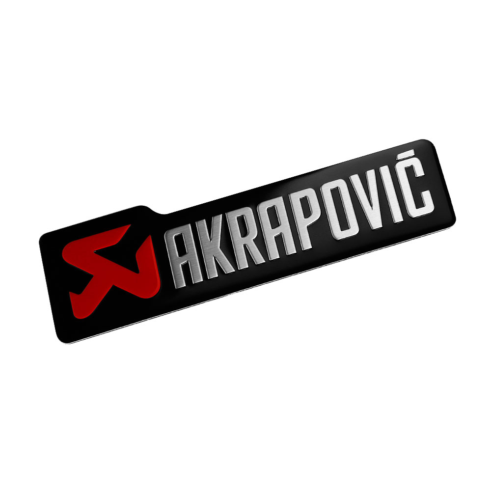 Car Styling 3D Aluminum Sticker Decal Emblem Badge For AKRAPOVIC Car Motorcycle Automobiles Body Side Door Accessories Sticker
