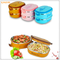 1Pcs Cute Cartoon Kids Portable Picnic School Food Box Japanese Thermal Lunch Box Leak Proof Stainless