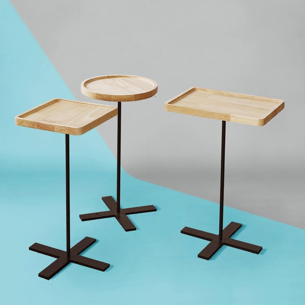 Small Apartment Tea Table Simple Solid Wood Living Room Coffee Table Bedroom Side table Corner table