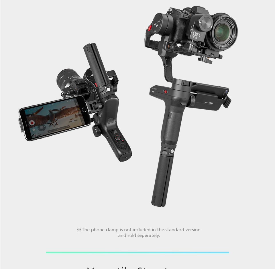 Zhiyun WEEBILL LAB 3-Axis OLED Display Stabilizer For Sony Panasonic GH5s Mirrorless Camera Handheld Gimbal With Focus Control 3