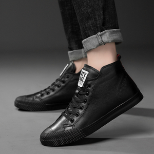 Image 3 - 2019 new autumn winter mens boots genuine leather cow work snow hip hop shoes ankle boot man black white lace up boots for men