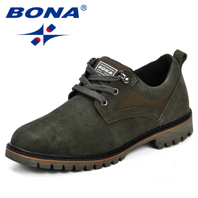 BONA Men Shoes Fashion Summer Autumn Comfortable Men Casual Shoes Suede Denim Men Breathable Flats Shoes Lace Up Anti-Slip Shoes summer men casual shoes fashion soft sneakers light breathable flats anti slip comfortable chaussure homme