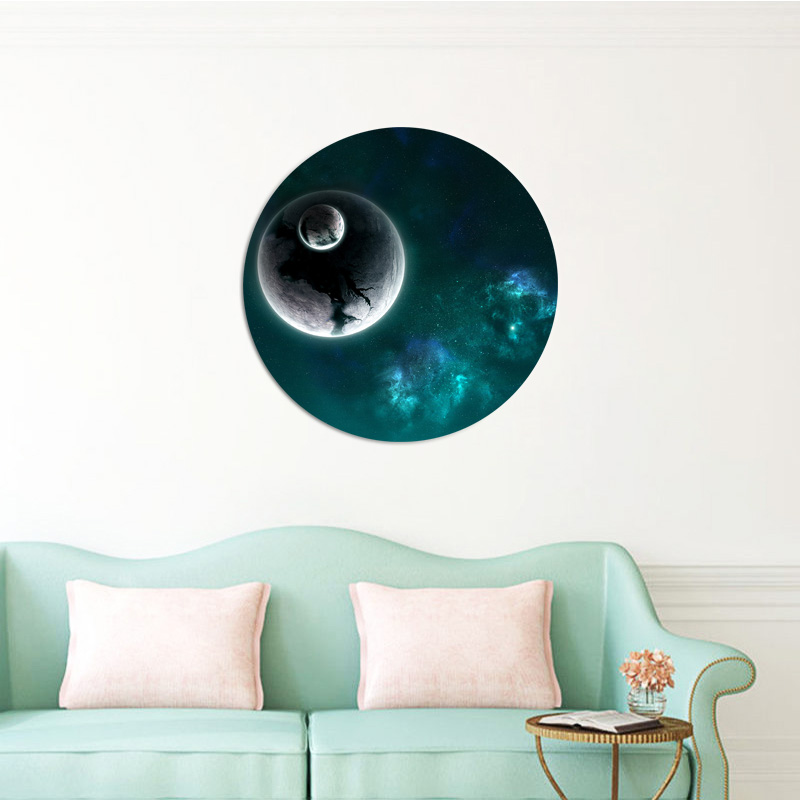 American-Style Moon Waterproof Glowing Wall Stickers Home Decor For Living Room Kids Room Home Party Decor Wallpaper