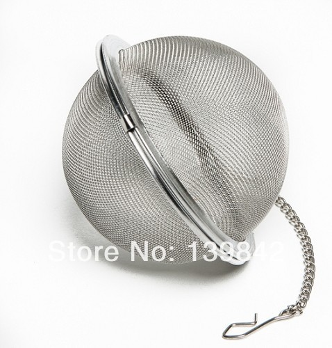Free shipping 70mm Stainless Steel Hop Steeper - Herb Ball with Clip Chain