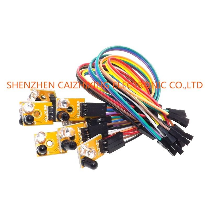 Eight Road 8 Channel Infrared Detector Tracking Transmission Line Obstacle Avoidance Sensor Module for Diy Car RobotEight Road 8 Channel Infrared Detector Tracking Transmission Line Obstacle Avoidance Sensor Module for Diy Car Robot