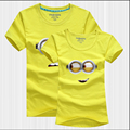 Minions Couple T Shirt Lovers Clothes Women's Men's Cute Cartoon Short Sleeve Cotton T-Shirt Matching Couple Outfits Plus Size