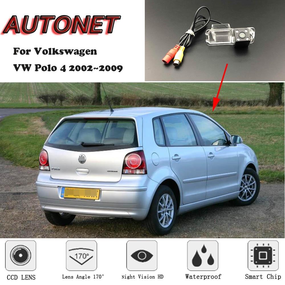 AUTONET Backup Rear View Camera For Volkswagen VW Polo 4 2002~2009 MK4 9N 4Q 9N3 Hatchback /license Plate Camera/parking Camera
