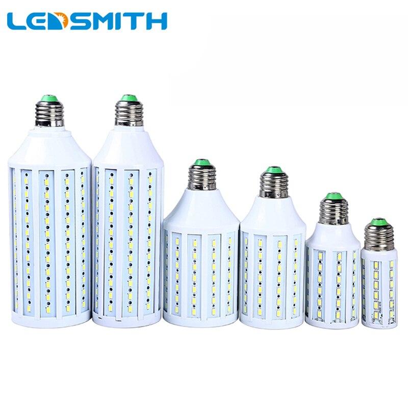 LED Lamp 5630 SMD E27 E14 LED Bulb 7 9 10 12 15 25 30 40 50 55 80W 85-265V Energy Saving LED Corn Light Lampada Cold/Warm White