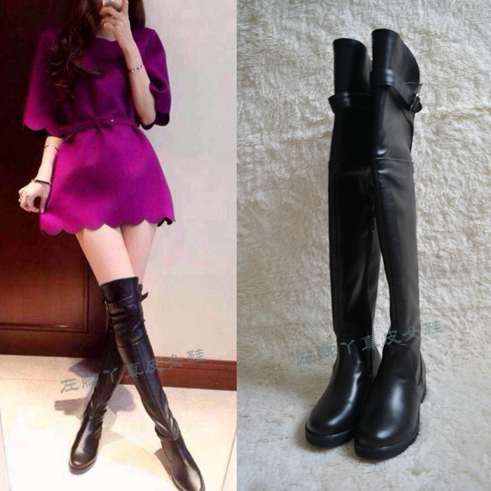 Popular High Leg Leather Boots-Buy Cheap High Leg Leather Boots ...