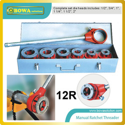 Manual ratchet threader Capacity: 1/2-2 including Die Heads, Ratchet Assembly, Ratchet Handle;compatible 12-R Dies in Die Head