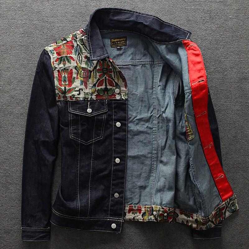 b3ba0e6ee European American Streetwear Fashion Men Jacket Folk Custom ...