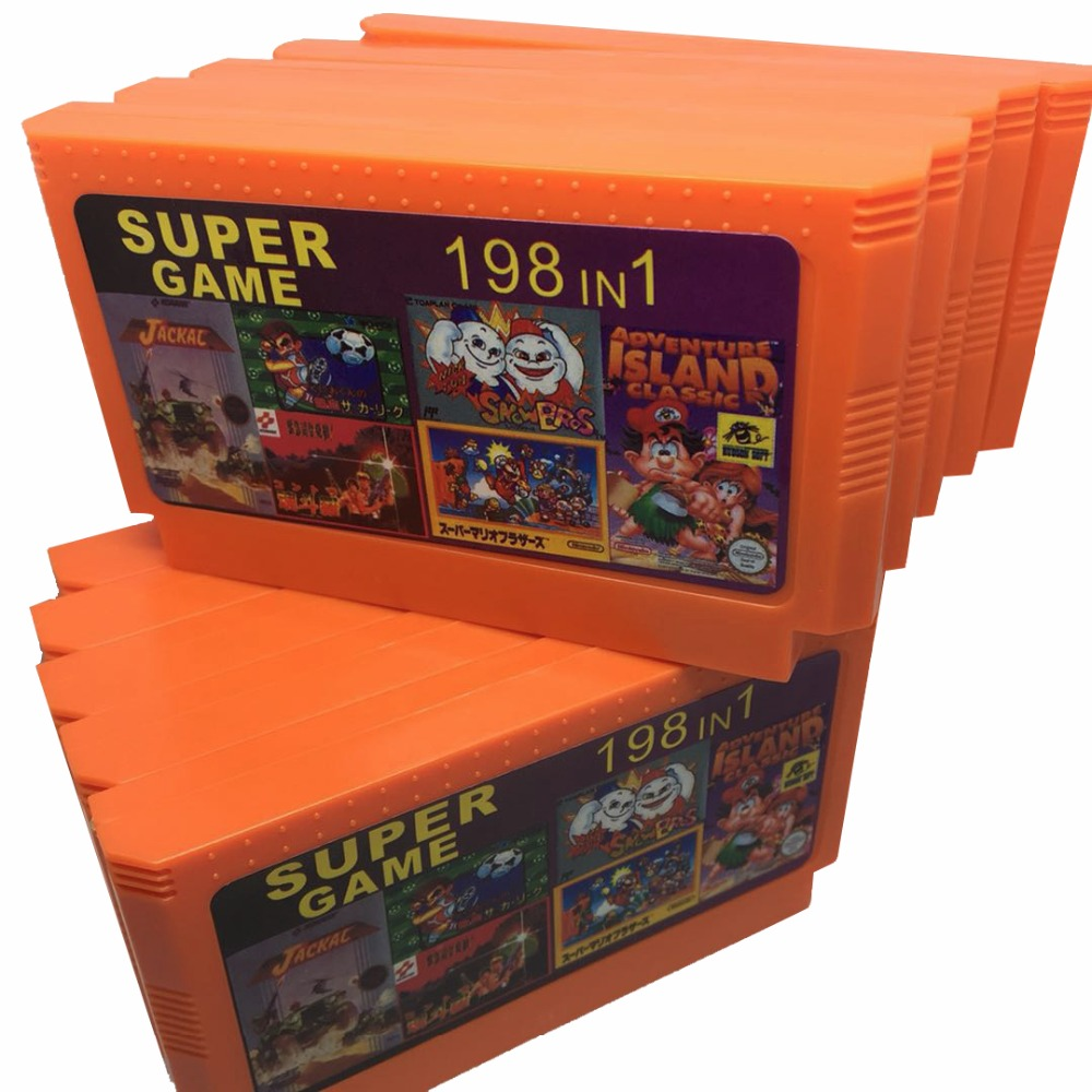 10 Pack 198 in 1 60 Pins Game Cartridge for 8 Bit Game Console with Nijia Turtles1 2 3 4/Contra 1 2 3 6 7 8/Tiny Toon 1 2 3 etc. недорго, оригинальная цена