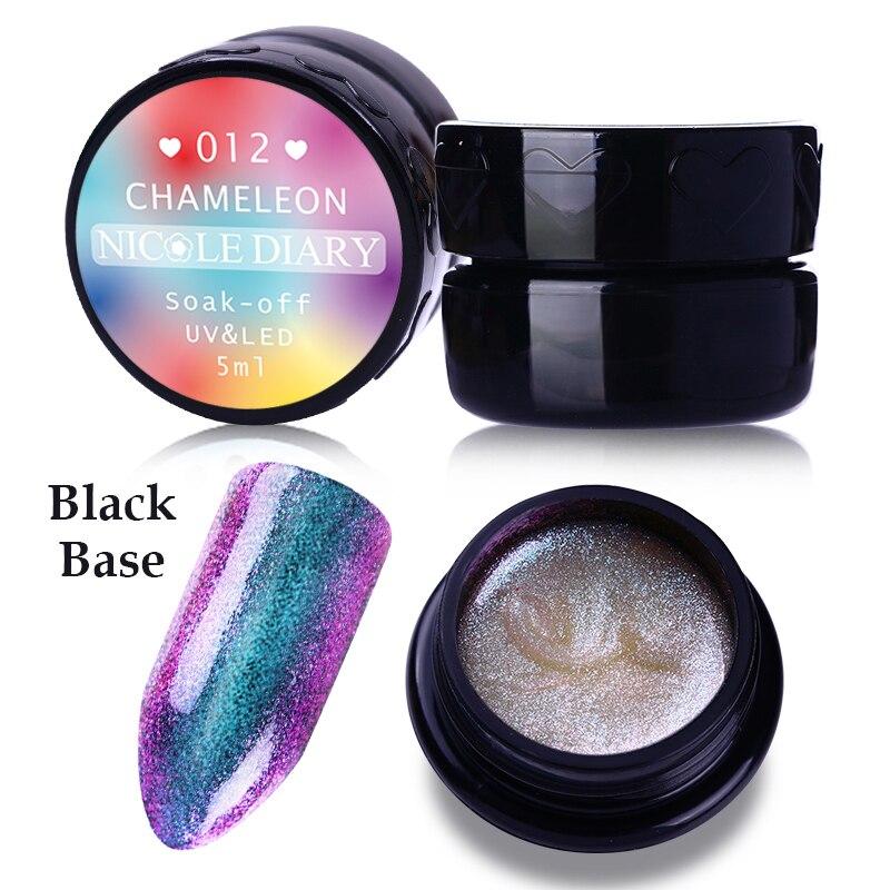 5ml NICOLE DIARY Blue <font><b>Light</b></font> Purple UV Gel Soak Off Chameleon Nail Gel Varnish Color Coat UV &#038; <font><b>LED</b></font> Polish Nail Art Color 012