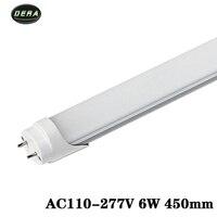 T8 1.5ft 6ワットledチューブac85-265v ledライト電球smd2835壁ライトクール暖かい白リビングルーム450ミリメートルledライト用ホー