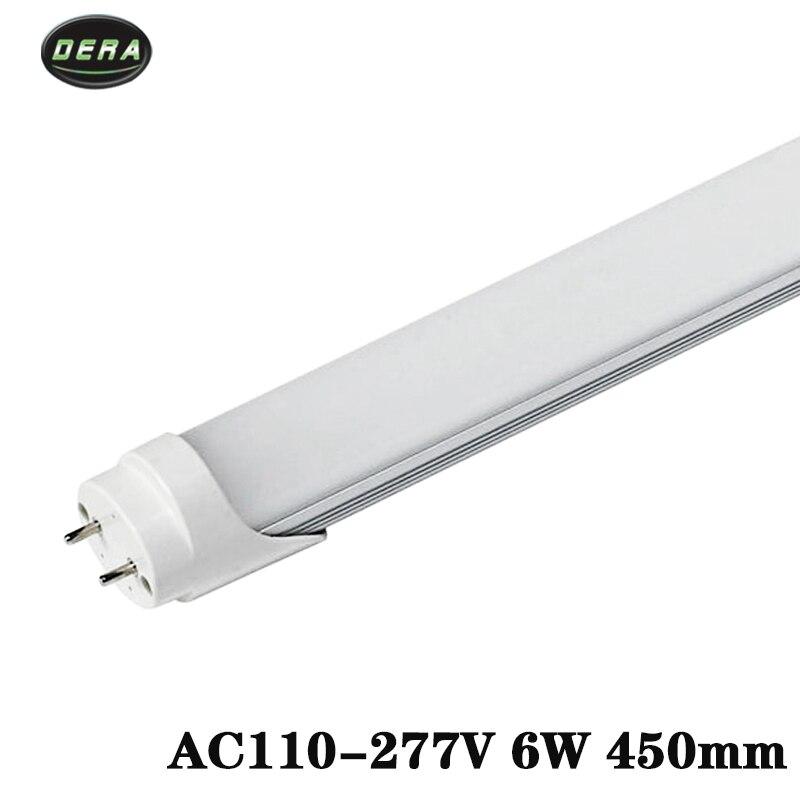T8 1.5ft 6 w tube mené AC85-265v lumière led ampoule SMD2835 éclairage mural cool blanc chaud salon 450 MM lumière led s pour la maison