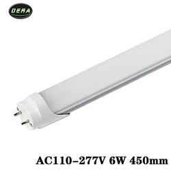 T8 1.5ft 6w świetlówka Led AC85-265v led żarówka SMD2835 ściana światło fajne ciepły biały salon 450MM światła led do domu