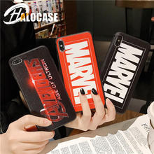 Superheroes Marvel Avengers Soft TPU Case for iPhone X 6s 7 7Plus 8 Plus Cover XR XS Max