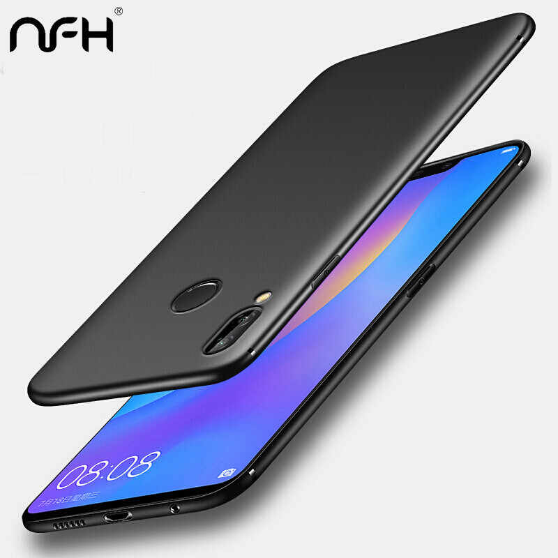 NFH Soft Matte TPU Black Phone Case Cover For Huawei mate 20 Lite P20 Pro P smart On Honor 8 8X Max 9 10 Lite Y5 Y6 2018 Y9 2019