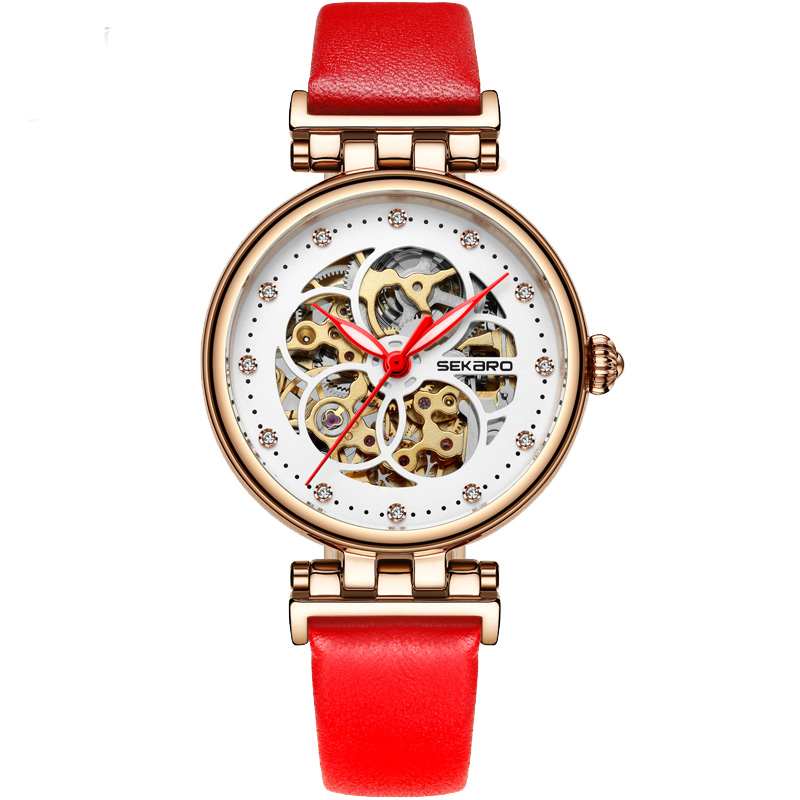 SEKARO 2818 Switzerland watch women luxury brand authentic ladies watch automatic mechanical watch female waterproof sekaro 8048 switzerland watches men luxury brand automatic mechanical authentic waterproof sports watch steel table business