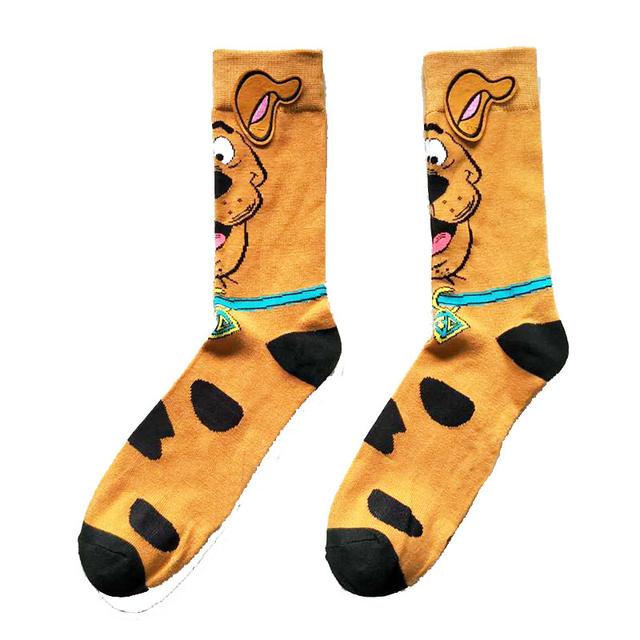 1pair High Quality Marvel Men Crew Socks Cartoon dog Pattern Party Novelty FunnySocks Breathable Comfortable