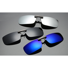 Rectangular aluminium magnesium alloy Polarized Lenses clip-on