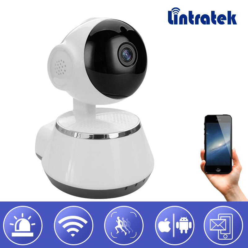 Lintratek Wifi Video Surveillance IP Camera 720P HD mini wi-fi PTZ onvif 2.0 wireless Home camera Baby monitor